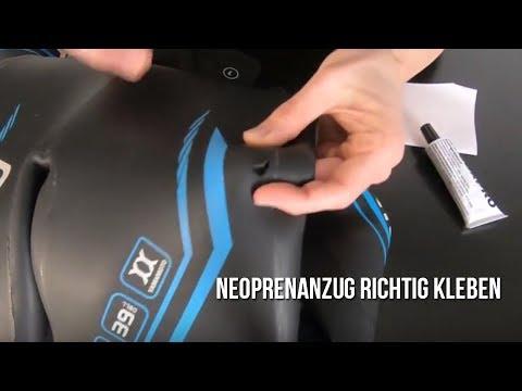 So könnt Ihr Euren Triathlon Neoprenanzug schnell und einfach kleben!!!