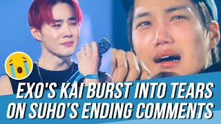 EXO's Kai Burst into Tears for Suho's Touching Ending Comments at the Last Day of 'EXplOration[dot]'