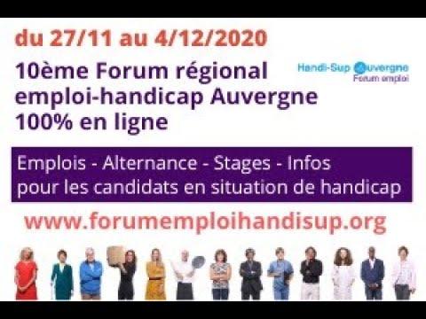 Video Discours ouverture forumemploihandisup 2020