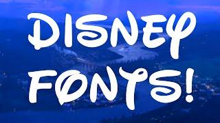 BEST Disney Fonts!!
