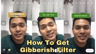 How To Get the Guess the Gibberish Filter on Instagram/Tiktok