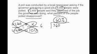 Solving Percentage Word Problems