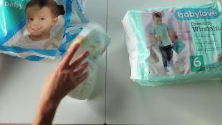 Test plienok - PAMPERS vs. BABYLOVE (dm-drogerie markt)
