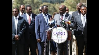 Wafula Chebukati asks Uhuru Kenyatta and Raila Odinga to deal directly with the commission