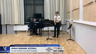 Joonas NEUMANN plays Sonata by P. Creston #adolphesax