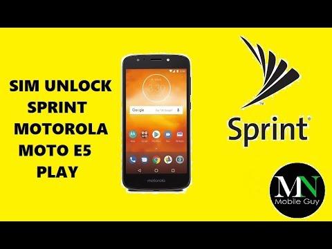 unlock sim network Moto E4 Sprint XT1766 android 7 1 1