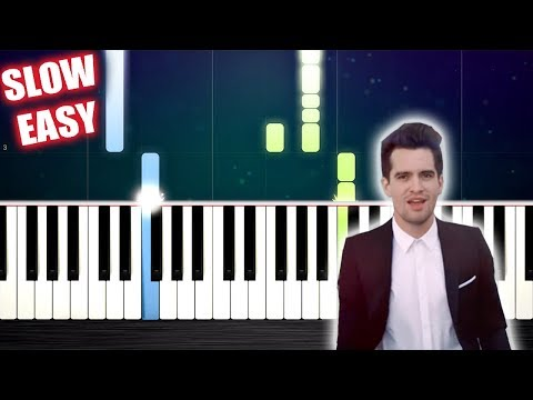 Panic! At The Disco - High Hopes - SLOW EASY Piano Tutorial by PlutaX