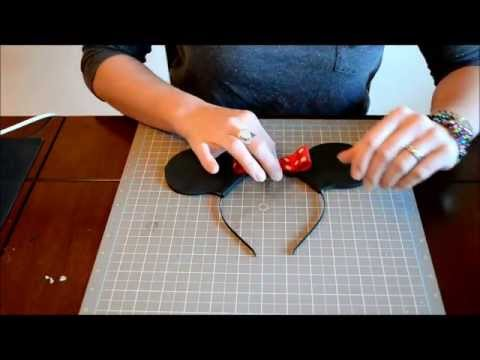 How To Make Mickey Mouse Ears or Minnie Mouse Ears on Headband