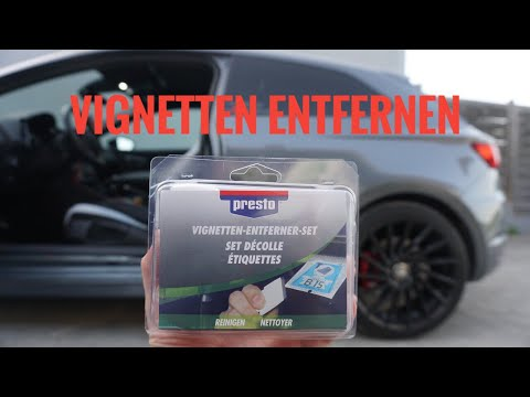 Presto Vignetten Entferner Set Test / Aufkleber Entferner / Seat Leon Cupra 290