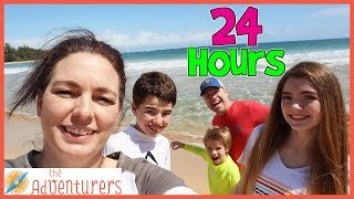 24 Hours On The Beach  That YouTub3 Family I The Adventurers