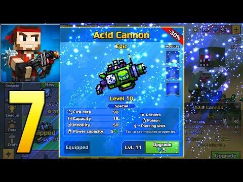 Pixel Gun 3D - Gameplay Walkthrough Part 7 - Acid Cannon