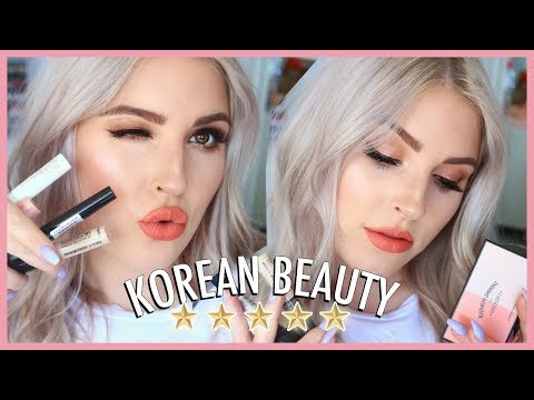 FULL FACE of Best Selling Korean Makeup 💕🙊 First Impressions & Review!