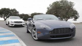 [RoadandTrack] 2009 Mercedes-Benz SL63 AMG vs 2010 Aston Martin V8 Vantage Roadster