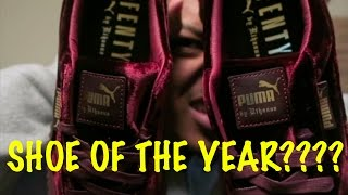 "Rihanna Velvet Puma Creepers ""Burgundy"" is...SHOE OF THE YEAR!!"