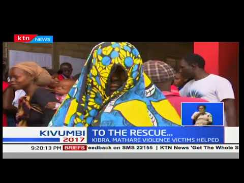 Hundreds of Mathare and Kibra victims of the violence after results declaration helped by Red Cross