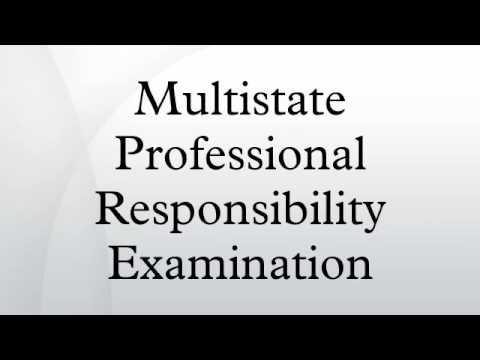 Multistate Professional Responsibility Examination - YouTube