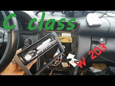Radio Removal & Replacement - Mercedes C200 w203