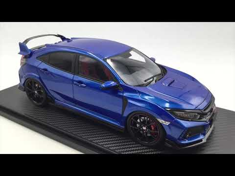 Ignition model 1:18 Honda CIVIC (FK8) TYPE R  Brilliant Sporty Blue Metallic (IG1445)