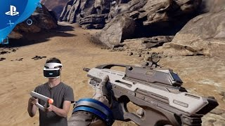 Farpoint - PS VR Aim Controller Setup and Demo | PS VR