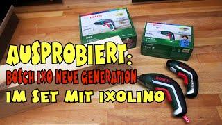 Ausprobiert: Bosch Akkuschrauber Ixo Set inkl. Ixolino (Neue Generation)