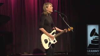 "Taylor Performs ""Wildest Dreams"" at The GRAMMY Museum"