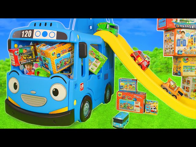 Tayo Bus Toys: Excavator, Fire Truck, Police Cars & Construction Toy Vehicles Surprise for Kids