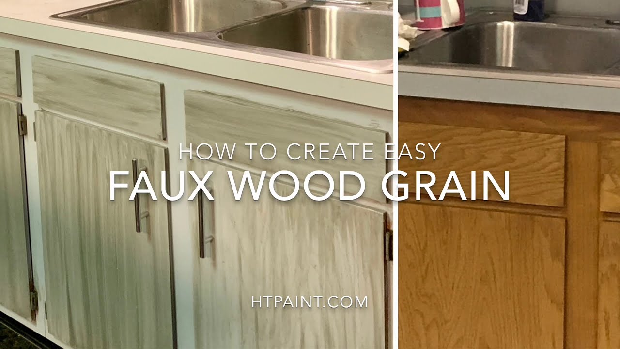 How to Create Wood Grain & Barn Wood Farmhouse Style Cabinets using ALL-IN-ONE Paint!