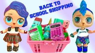 LOL Surprise Punk Boi and Punkette Go Back to School Supply Shopping