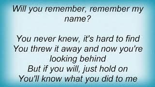 Artension - Remember My Name Lyrics