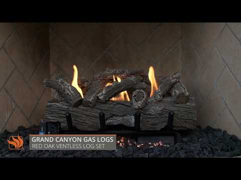 Red Oak Ventless Gas Log Set
