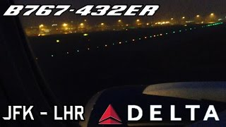 preview picture of video 'Delta Air Lines B767-432ER Early Morning Landing London Heathrow'