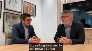 Voidable Transactions: Lawyer and a Liquidator Perspective (Intro Video)