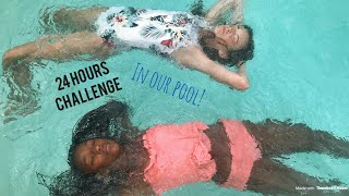 24 HOUR CHALLENGE OVERNIGHT IN OUR POOL