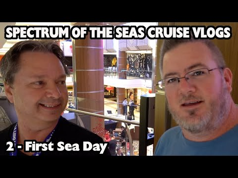 First Sea Day - Royal Caribbean Spectrum of the Seas Cruise Vlogs - Day 2