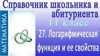 Логарифмическая функция и ее свойства.