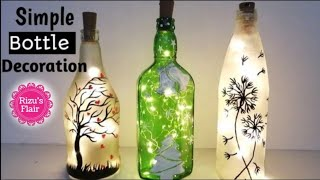 Bottle Art | Glass Bottle Decoration Ideas | How To Paint And Decorate A Glass Bottle