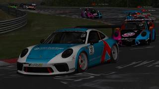 Assetto Corsa Nordschleife Porsche 911 GT3 Cup Multiplay Online Race