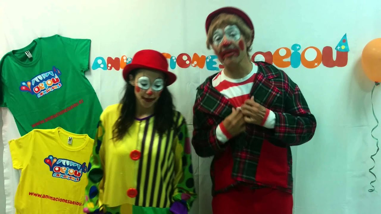 Show de payasos de circo para fiestas infantiles, chistosos