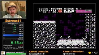Ninja Gaiden NES speedrun WR in 11:38.067 by Arcus
