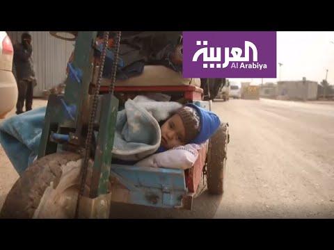 العرب اليوم - شاهد: الأحوال المناخية تضاعف الوضع الإنساني المتدهور لنازحي إدلب