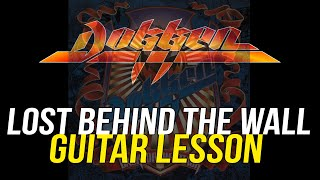 Dokken Lost Behind The Wall Rhythm Guitar Lesson, George Lynch Back For The Attack Lynch Lycks S3-33