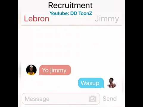 Lebron James Texting Jimmy Butler