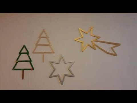 How to make Christmas star with popsicle