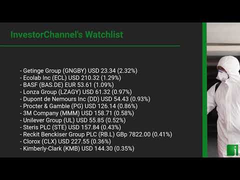 InvestorChannel's Disinfection Watchlist Update for Wednes ... Thumbnail