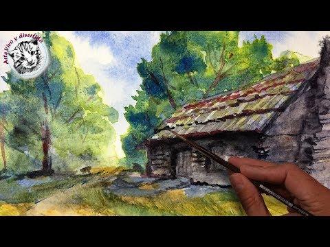 Curso de Acuarela 3 | Como Pintar un Paisaje con Acuarelas Paso a Paso