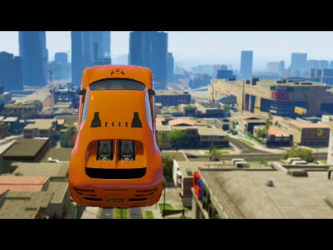 Amazing Car Stunt Race (GTA 5 Funny Moments)