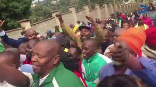 Kiharu MP Ndindi Nyoro supporters celebrate his release from custody