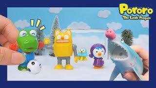 Shark attack !!   Strange soccer   Pororo Toys   Pororo's mini world
