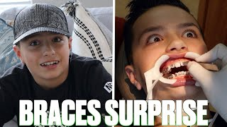 SURPRISING OUR SON WITH BRACES FOR THE FIRST TIME | GETTING BRACES FOR THE FIRST TIME SURPRISE