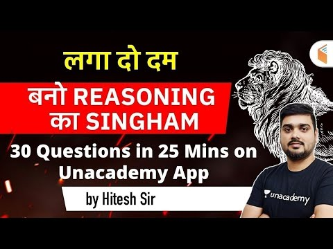 Reasoning Live Quiz on Unacademy by Hitesh Mishra | Check Your Level